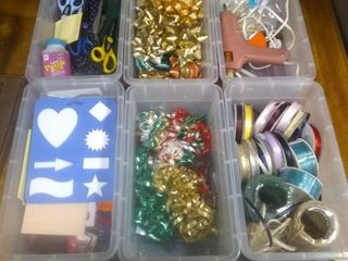 Nice 6 Tote lot Of Various Crafting Items