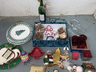 Christmas lot Ornaments Plates Plus location laundry Room