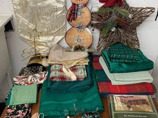 Christmas Tablecloth lot location laundry Room