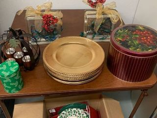 Christmas lot Chargers Paper Plates Plus location laundry Room