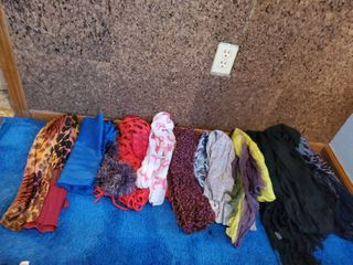 lot of 12 Colorful Womans Scarves