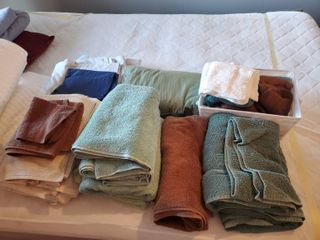 lot of Clean Towels  linens  and Cloths