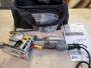 Rockwell Mini Circular Saw with laser  Corded  Tested and Working  Included Manual and Traveling Bagu