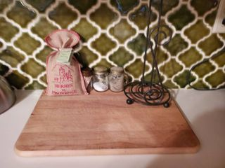 Cutting Board  Papertowel Holder  Salt and Pepper and Toothpick Holder