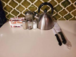 Ready  Set  Teatime lot   Kettle  Sugar  Gulf Wax