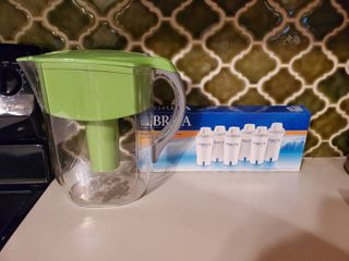 Brita Filtered Water Pitcher   with 5 Extra Filters