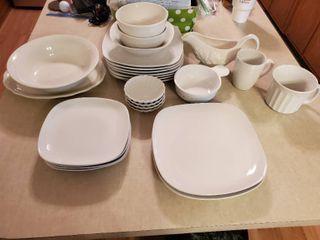 Mega lot of White Ceramic Dishes