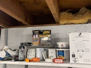 Miscellaneous lot with Golf Shoes and Outlet Adapters location Workshop