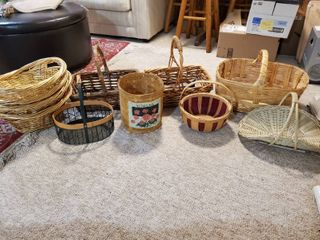lot of Home Decor Baskets 11 Total
