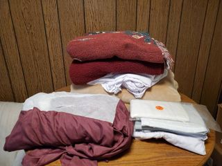 lot of SOFT Throw Blankets and linens