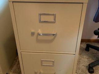 2 Drawer Metal HON Filing Cabinet
