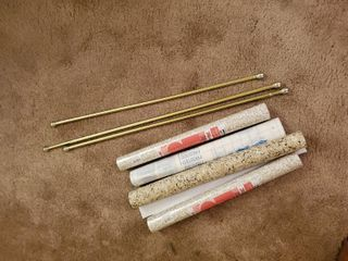 4 Rolls of Contact Paper and 3 Rods