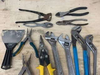 lot of Hand Tools location Workbench