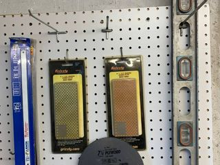 Sharpening Hones  Saw Blades and level