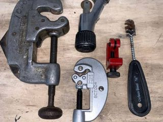 lot of Pipe Cutters location Basement Workbench