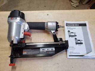 16 Gauge Porter Cable Pneumatic Finish Nailer  Includes Manual
