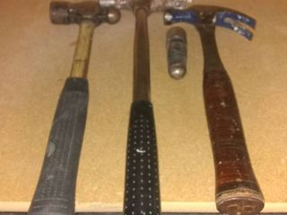 3 Piece lot Of Hammers With Extra Ball Ping Head