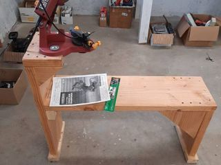 Electric Chainsaw Sharpener with bench