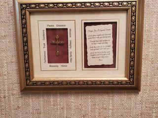 Paster Devotion Framed Cross Wall Piece
