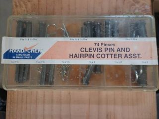 Handi Chek 74pc Clevis Pin and Hairpin Cotter Asst