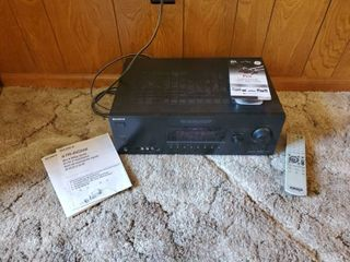 Sony AV System  Digital Audio  Video Control Center   STR DG500  Tested   Working includes Booklets  Remote  and 6ft Digital ToslinkFiber Optic Cable