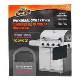 Armor All 65 in x 45 in Black Vinyl Gas Grill Cover Fits Models