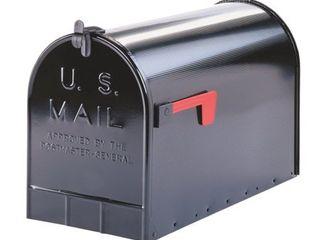 Gibraltar Extra large Steel PostMount Mailbox Black