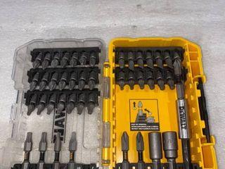 DeWalt Drill Bit Set With Case   Missing 1 insert  See Photos
