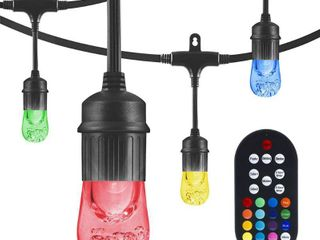 24  lED Cafe String lights   12 Acrylic Color   Changing Bulbs   Enbrighten