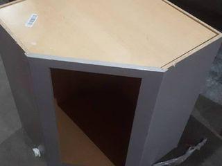 Grey Corner Cabinet  Missing Door