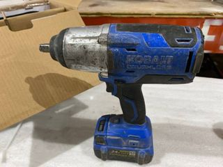 Kobalt 24 volt Max 1 2 in Drive Brushless Cordless Impact Wrench  1 Battery Included