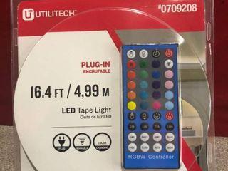 Utilitech led Tape light Plug N lb Plastic Integrated 0709208 16 4ft W  Remote