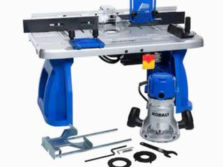 Kobalt 1 4 in and 1 2 in Fixed Corded Router with Table