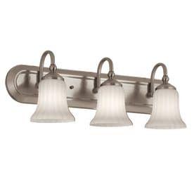 Portfolio 3 light Shaker Park Brushed Nickel Bathroom Vanity light