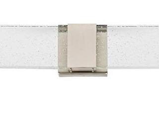 Allen   Roth Waldorf 2 light Nickel Modern contemporary led Vanity light