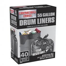 Contractor s Choice 40 Count 55 Gallon Outdoor Trash Bags