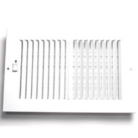 Accord AASWWH2146 Sidewall Ceiling Register with 2 Way Aluminum Design  14 Inch x 6 Inch Duct Opening Measurements  White