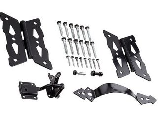 Missing Hardware National Manufacturing   Spectrum Brands HHI 257846 Decorative Butterfly Gate Kit  Black