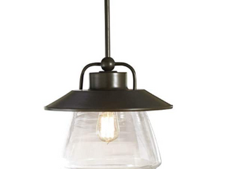 allen   roth Bristow Pendant Specialty Bronze Finish Clear Glass Shade