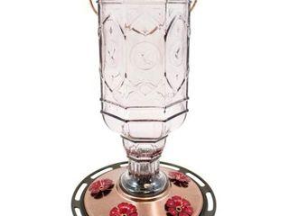 lot of 3 More Birds Amethyst Jewel Hummingbird Feeder  Glass Bottle  5 Feeding Ports and 20 Ounce Nectar Capacity