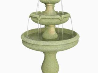 Garden Treasures  lighted 3   Tier Outdoor Fountain 22 4in x 22 4 in x 45 7in