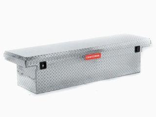 CRAFTSMAN 71 36 in x 19 57 in x 16 58 in Brite Aluminum Crossover Truck Tool Box Retail   289 00