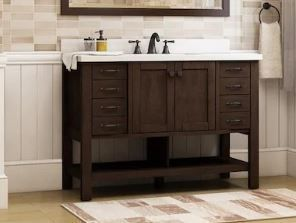 Allen   Roth  0761010 KingsCote Vanity with Top Esspresso Finish Engineered Stone Top 48in x 20in x 38 4 in