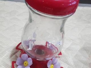 Hummingbird Feeder Decorative Perch Flower Vine Bird Feeding Port 5 Oz