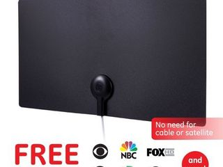 General Electric 33678 Ultra Edge Series Flat Amplified Indoor Antenna  Black