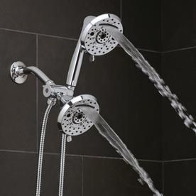 Oxygenics Amp Chrome 120 Spray Shower Head and Handheld Shower Combo