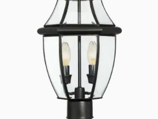 Portfolio Brayden 60 watt 21 8 in Matte Black Traditional Post light  Missing Top