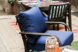 Sunbrella Canvas Navy Deep Seat Cushion