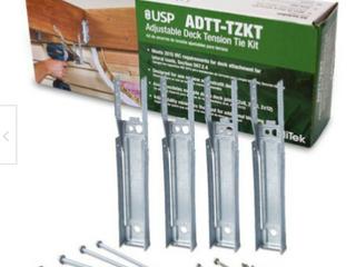 3 Mitek Adjustable Deck Tension Tie Kits For 2x8 2x10 2x12 Joists Deck Build
