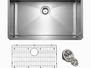 Giagni 30 in x 19 in Stainless Steel Single Bowl Undermount Residential Kitchen Sink